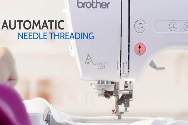 Automatic needle threading diagram image