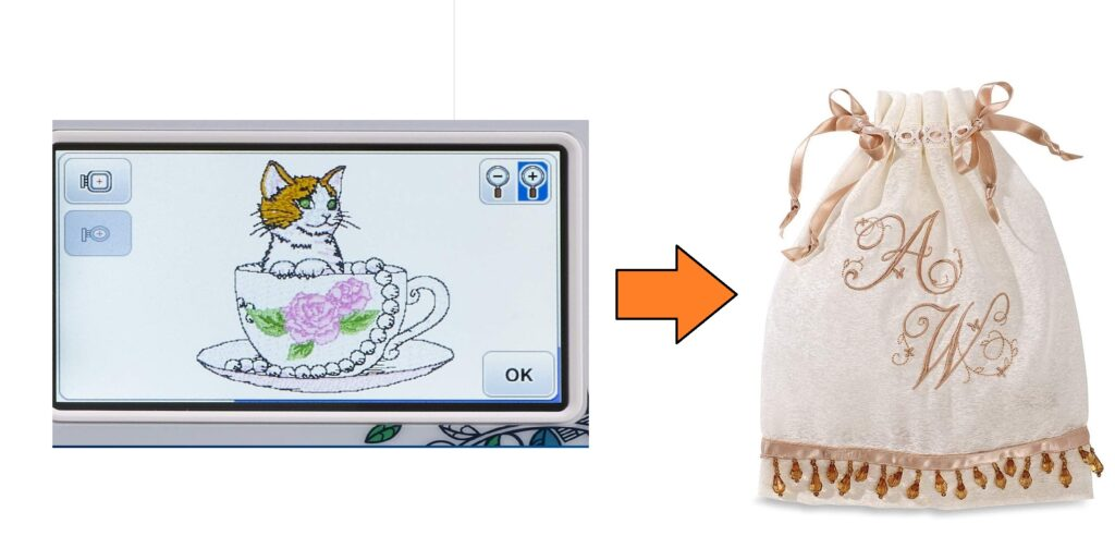 Select the design and embroidery