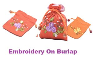 How to Embroidery on Burlap