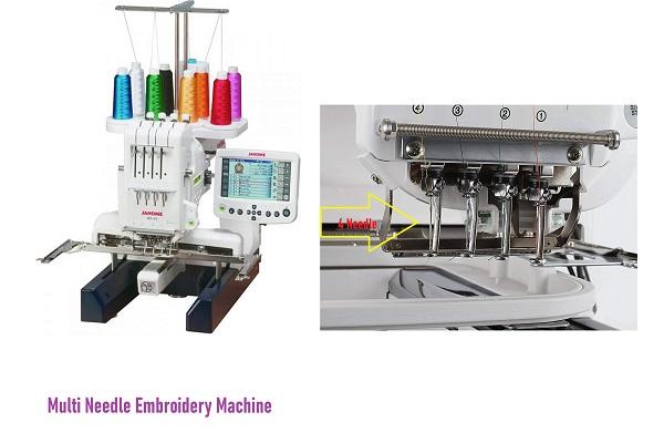 Multi - Needle Embroidery Machines
