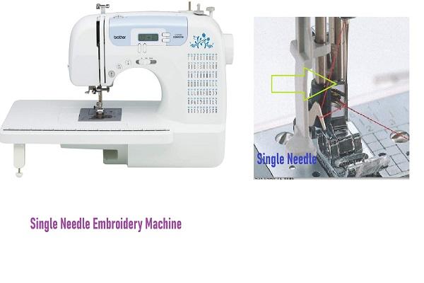 Single - Needle Embroidery Machines