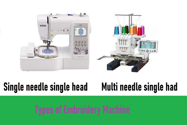 What are the different types of embroidery machines
