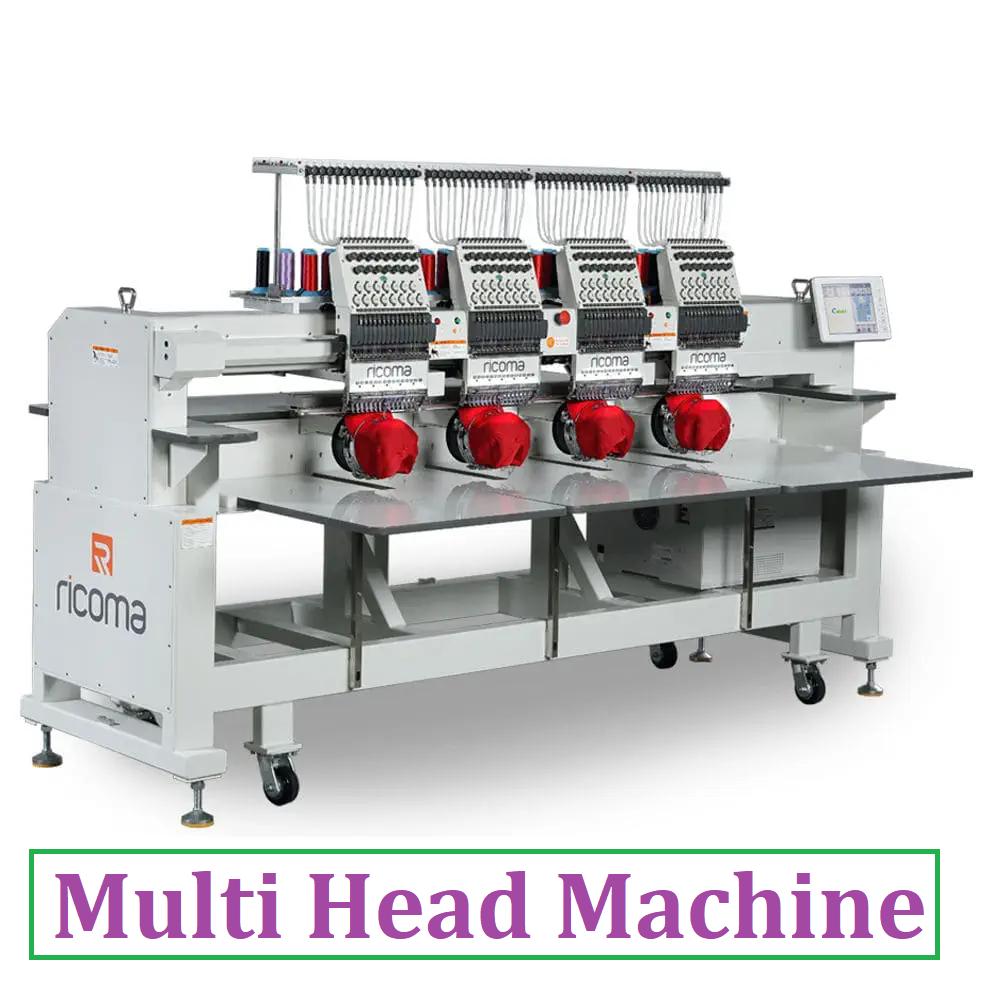 Multi Head Embroidery Machine